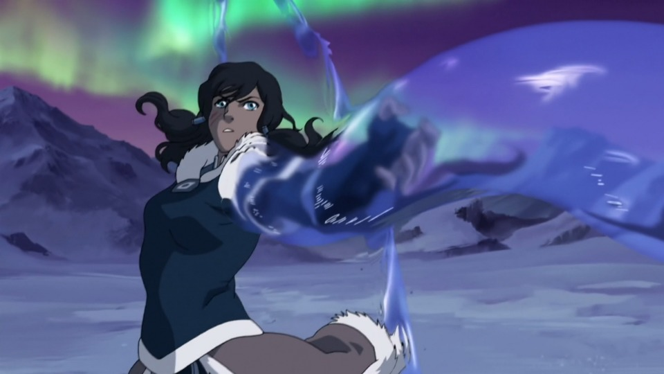 And of course in the second series finale Korra is able to use water arms incredibly effectively against Unalaq himself