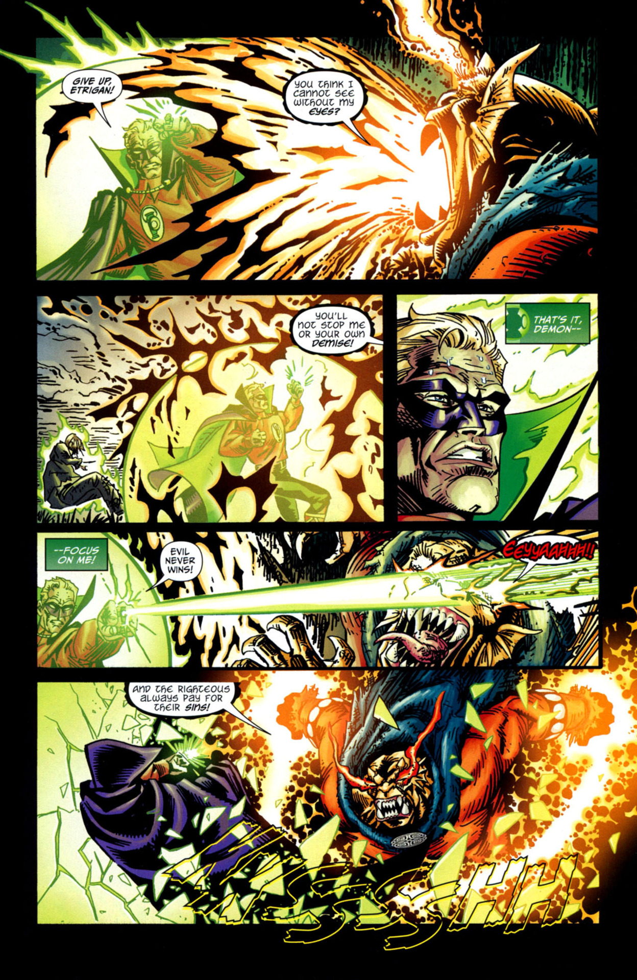 Breaks through the most powerful Green Lantern's defense shield
