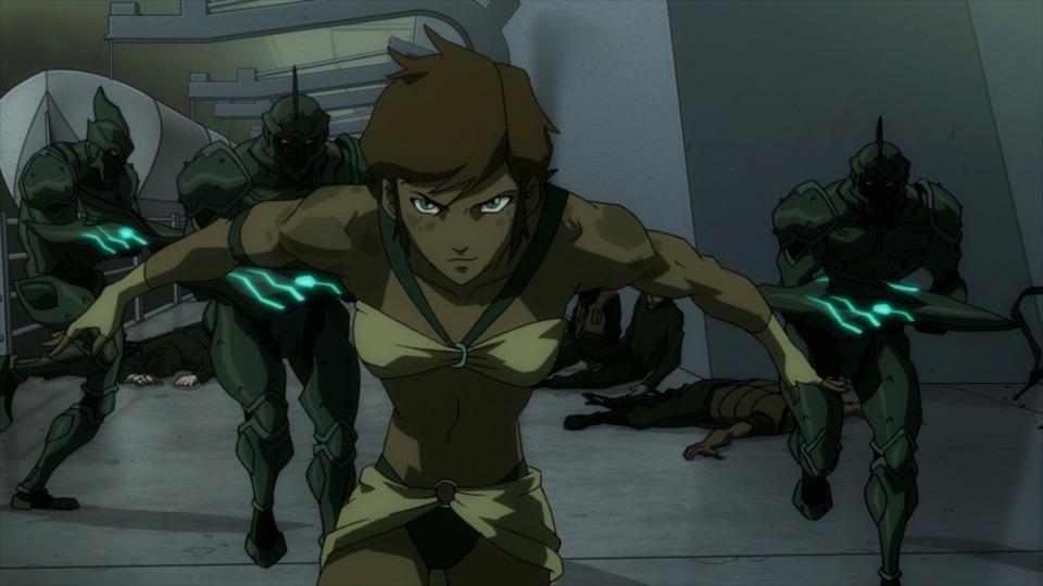 Princess Tula fighting Luthor's army