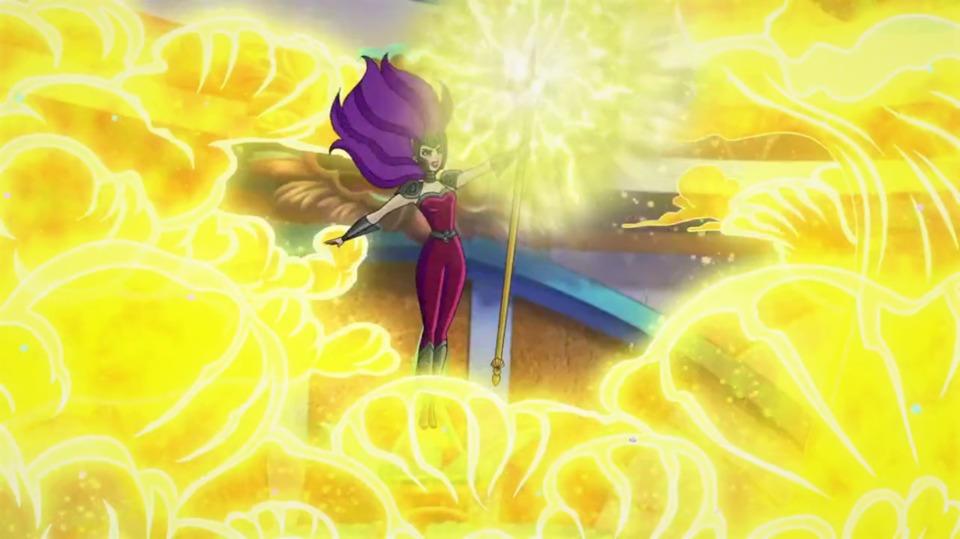 Queen Siren wielding the trident of Atlantis