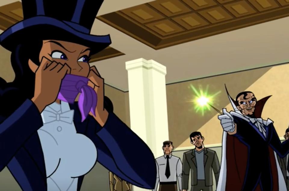 Zatanna battling Abra Kadabra in Batman: The Brave and the Bold