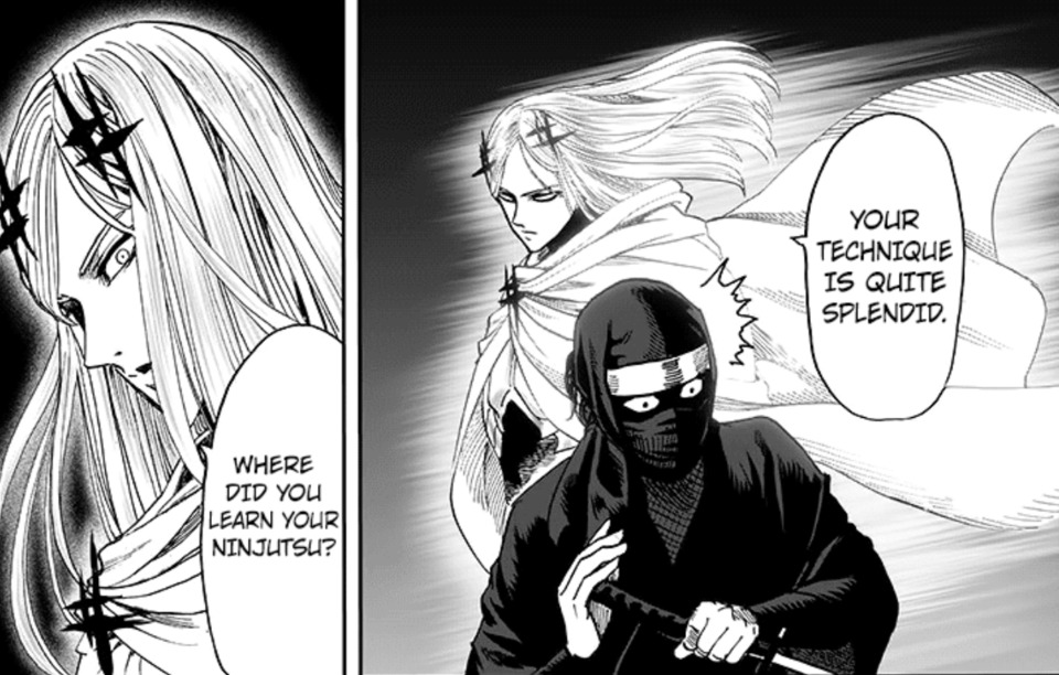 A Low Level A rank Hero being acknowledged by a known speedster of the series.