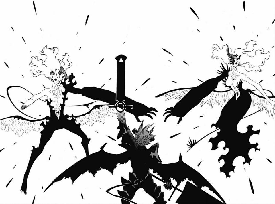 Asta destroys Lilith and Naamah form