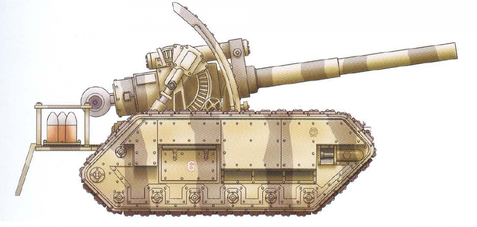 Basilisk (features a single Earthshaker cannon as well as an interchangeable hull-mounted gun)