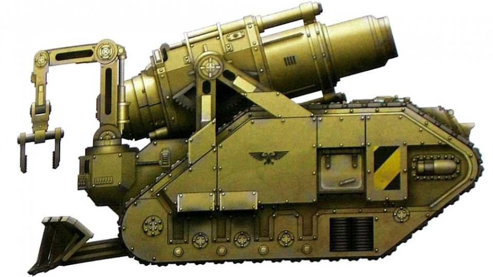 Colossus (largest mortar in the Imperium)
