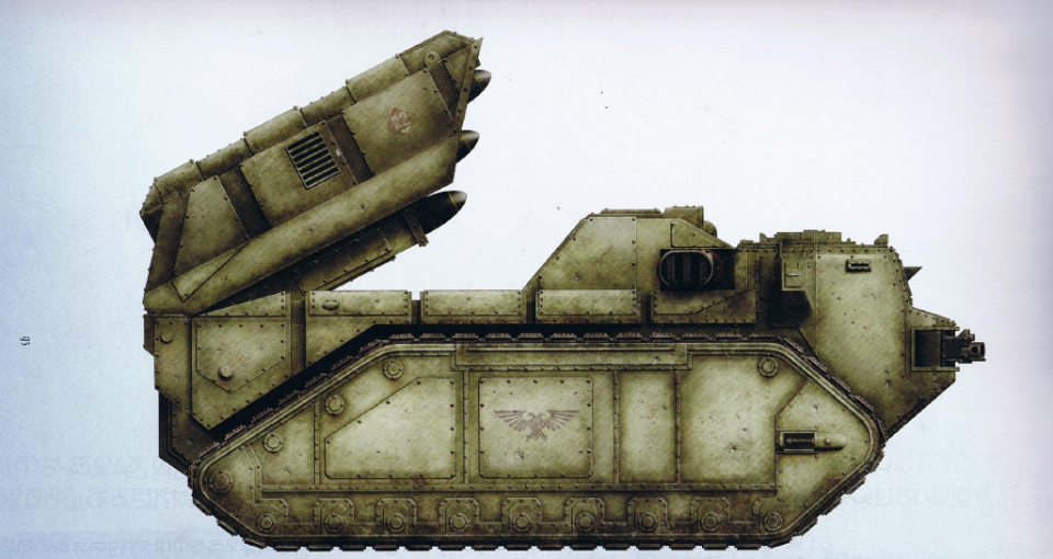 Praetor (dedicated ordinance battery with a twin-linked turret mounted gun as well as a pillbox cab allowing the crew to fire their weapons)