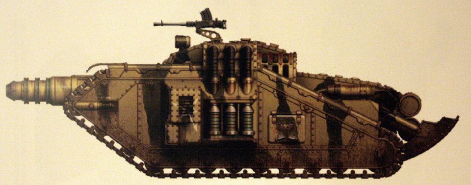 Valdor (super-heavy tank featuring the ancient and rare Neutron Laser Cannon, making it an indispensable tank and titan-hunting vehicle)