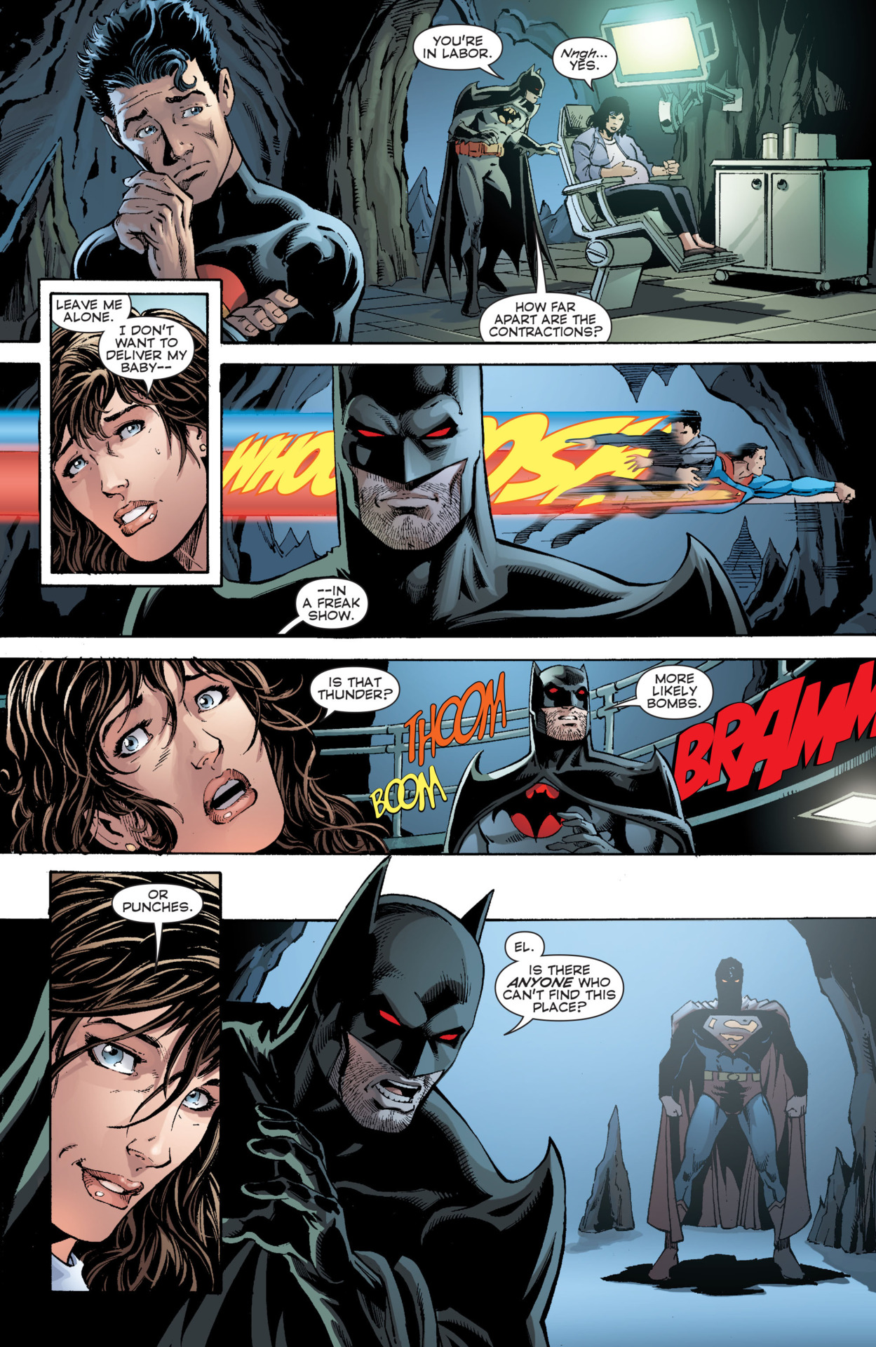 Superman quickly defeating a version of him coming from an alternate universe