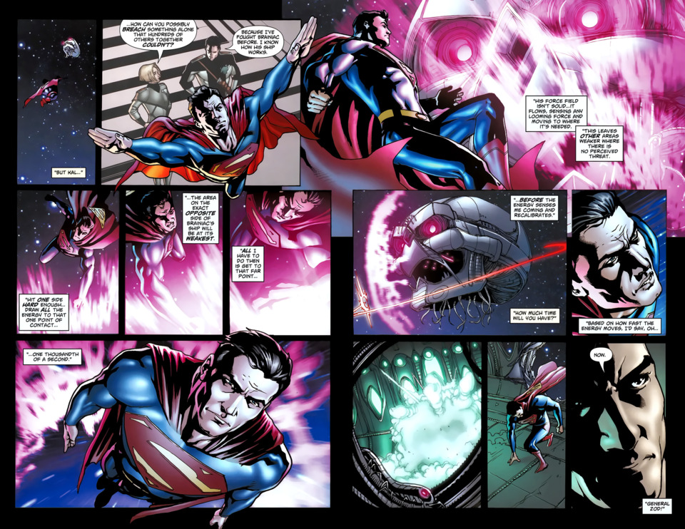 Reacts in a millisecond to enter Brainiac's ship before the forcefield goes back up.