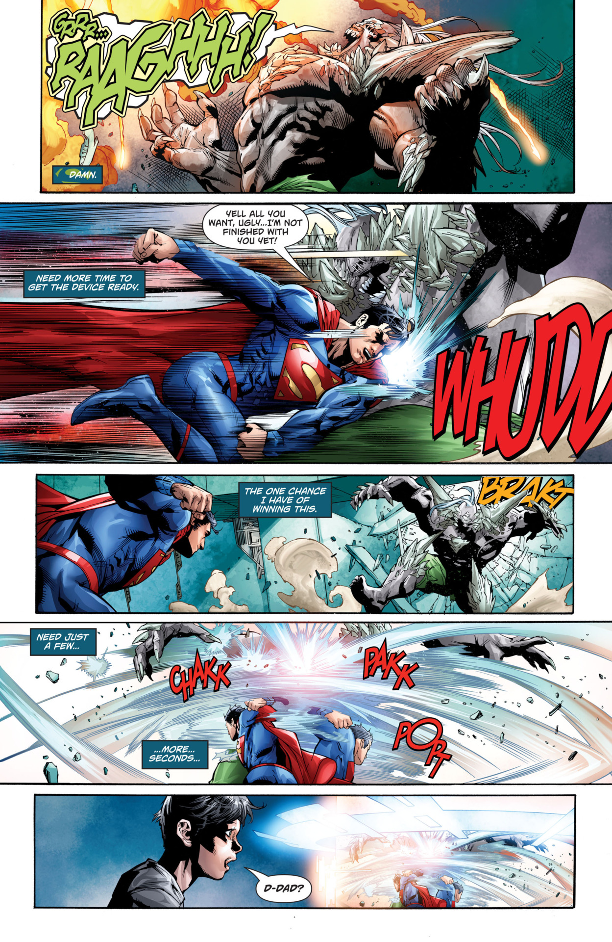 Punching Doomsday at super speed again
