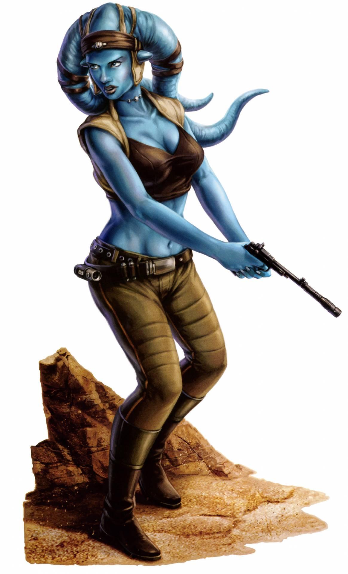 A female Twi'lek