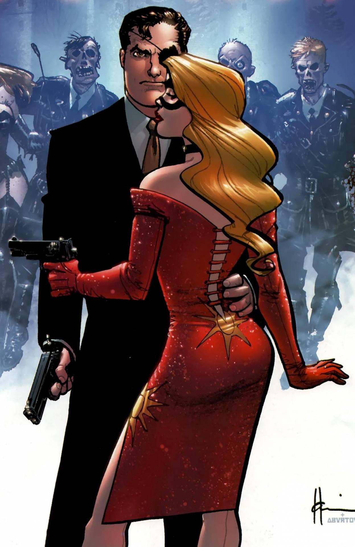 Louise Mason and Nick Fury