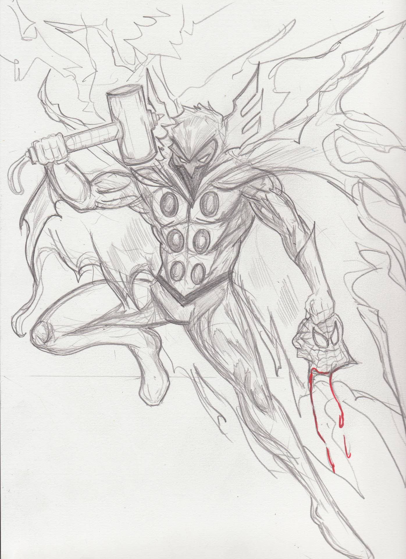 Hobgoblin--is he worthy? Well, that's questionable but I think we could all agree, ol' Spidey wouldn't stand a chance if this happened. Poor webhead. *crickets*