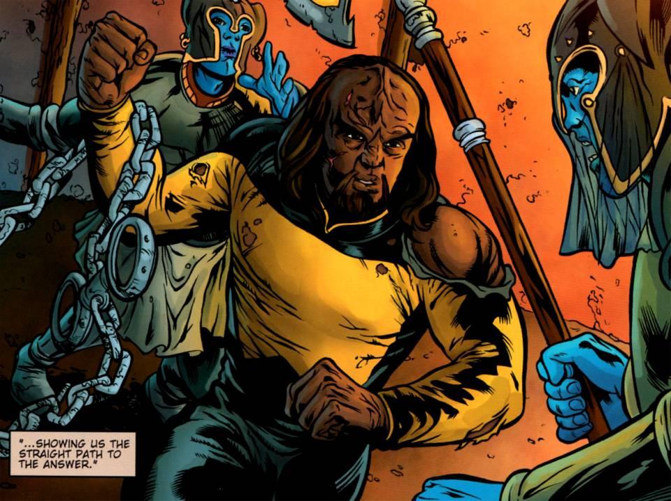 Worf in Battle