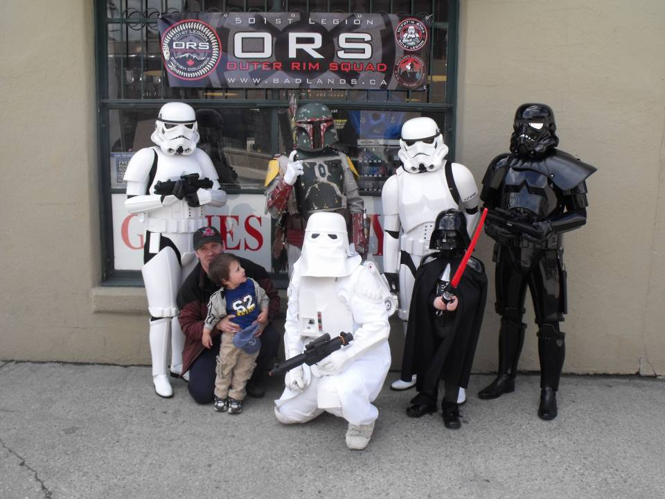 My son and I with the ORS outside Eb's on FCBD 2011