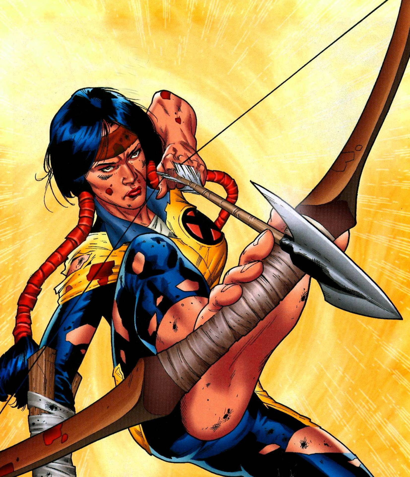 Dani Moonstar's mind games and illusions would easily manipulate Thor in a theoretical conflict.