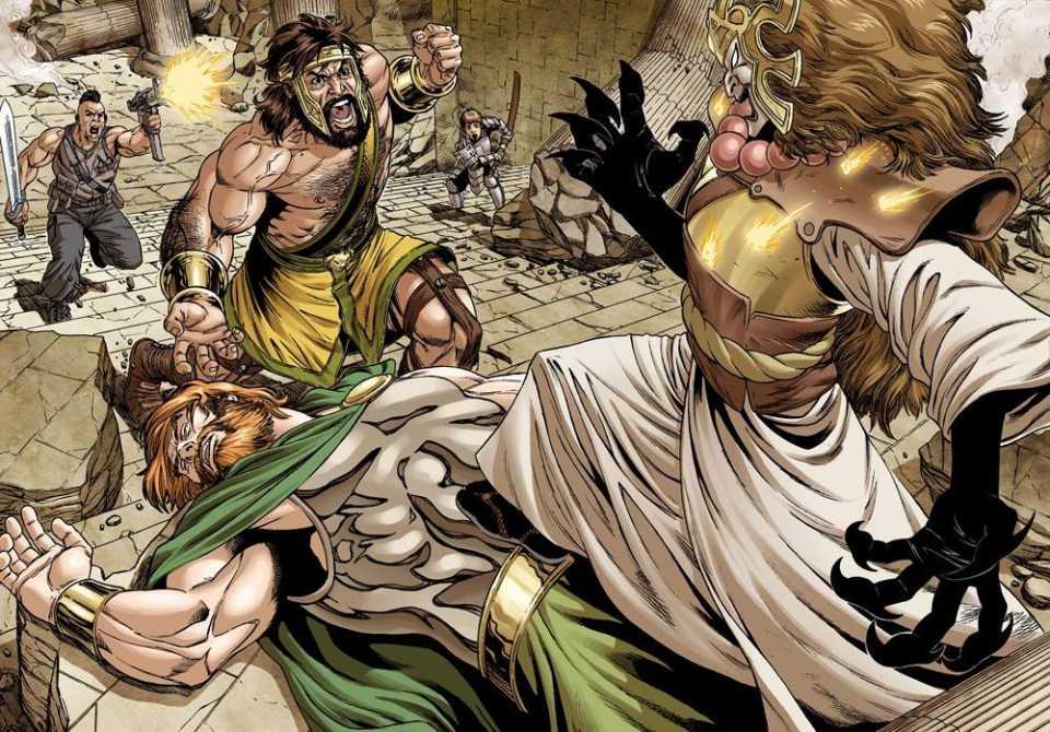 Zeus falls to Mikaboshi