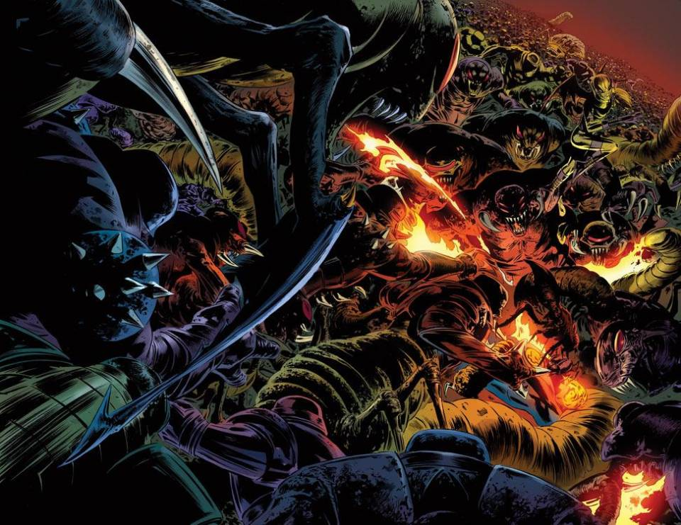 The Arthrians cut The Human Torch down with relative ease.