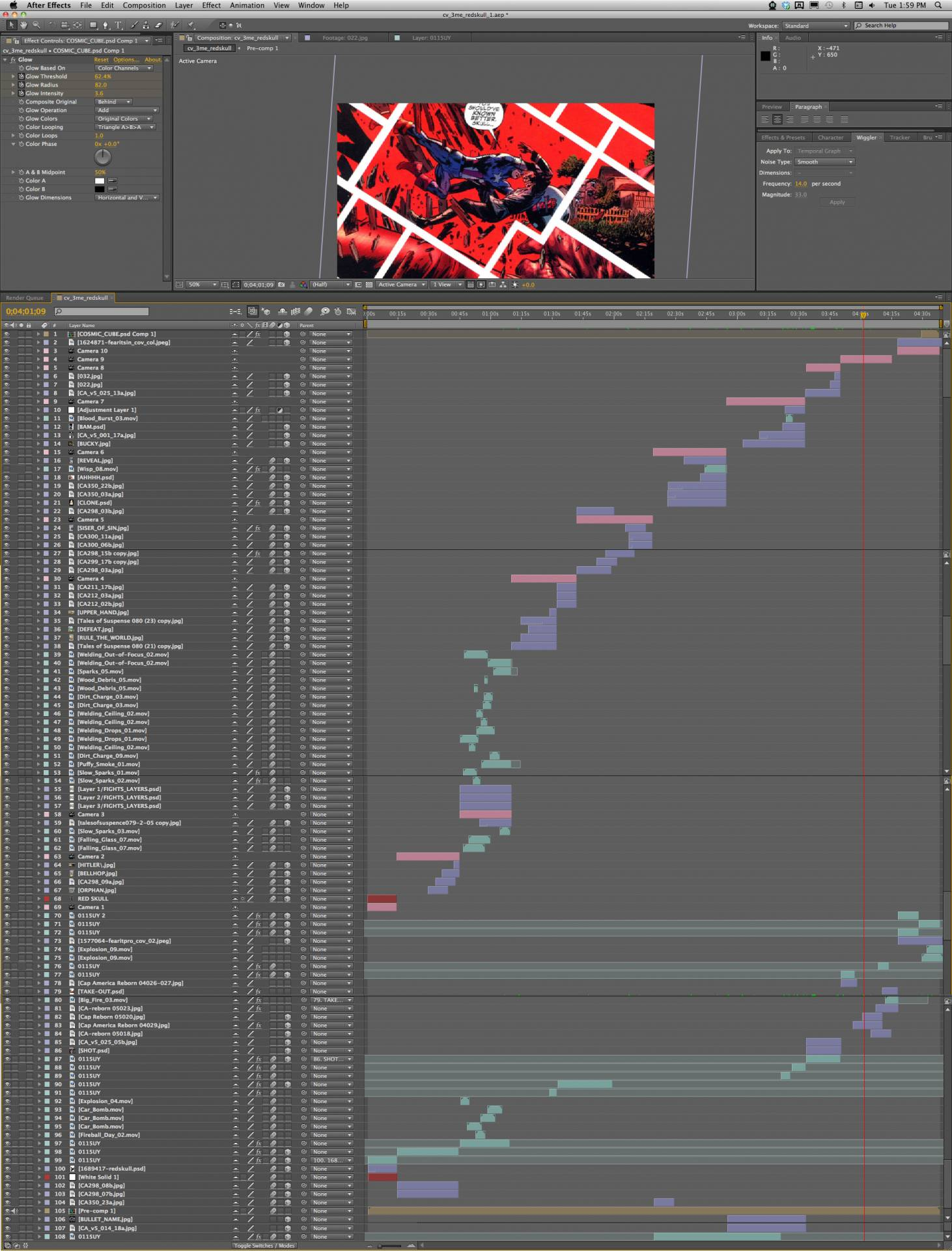 The full crazy After Effects Project