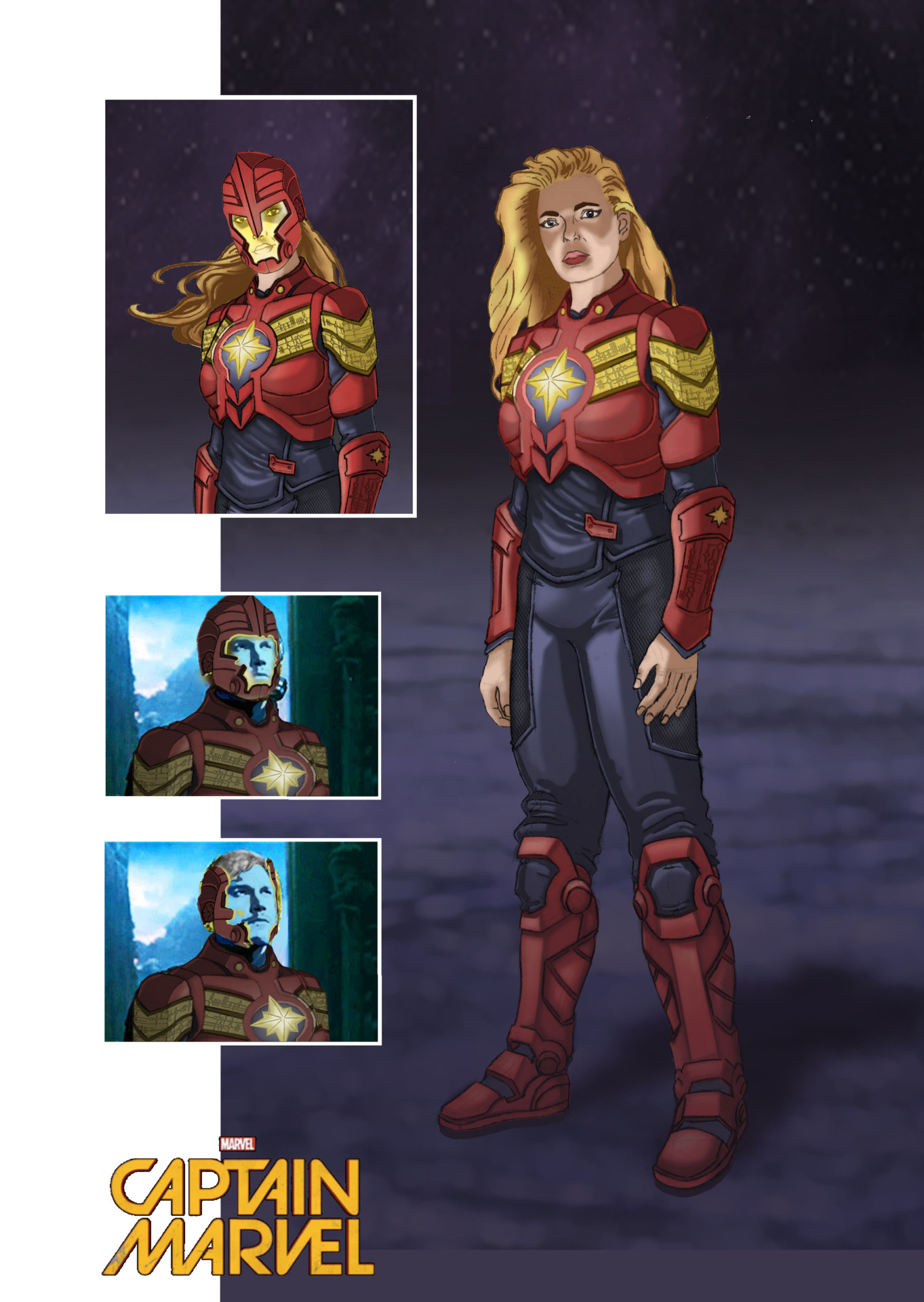 This is my concept art for Carol Danvers/Captain Marvel movie.