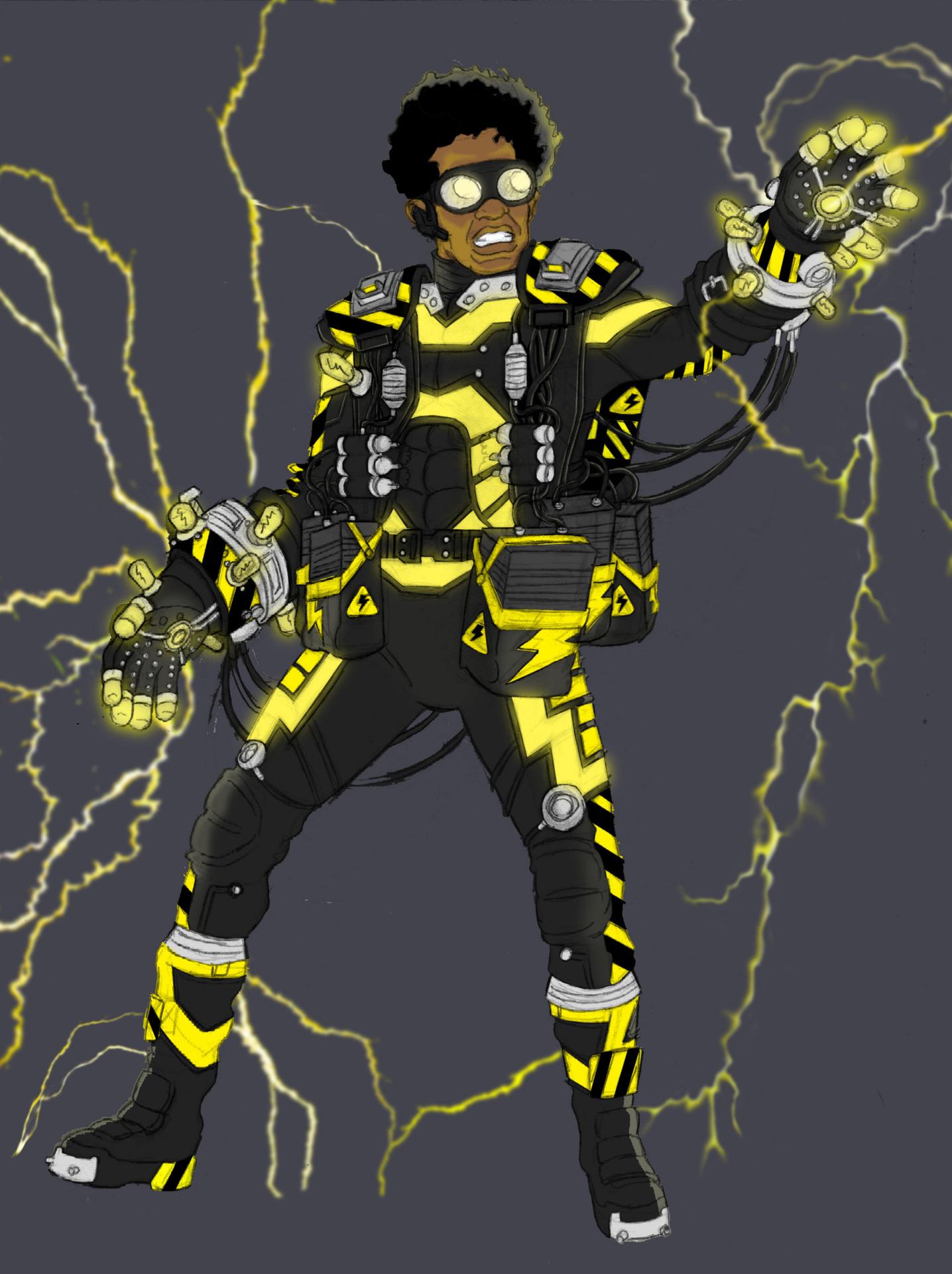 Needham Comics' Black Lightning Redesign for Arrow W.I.P.
