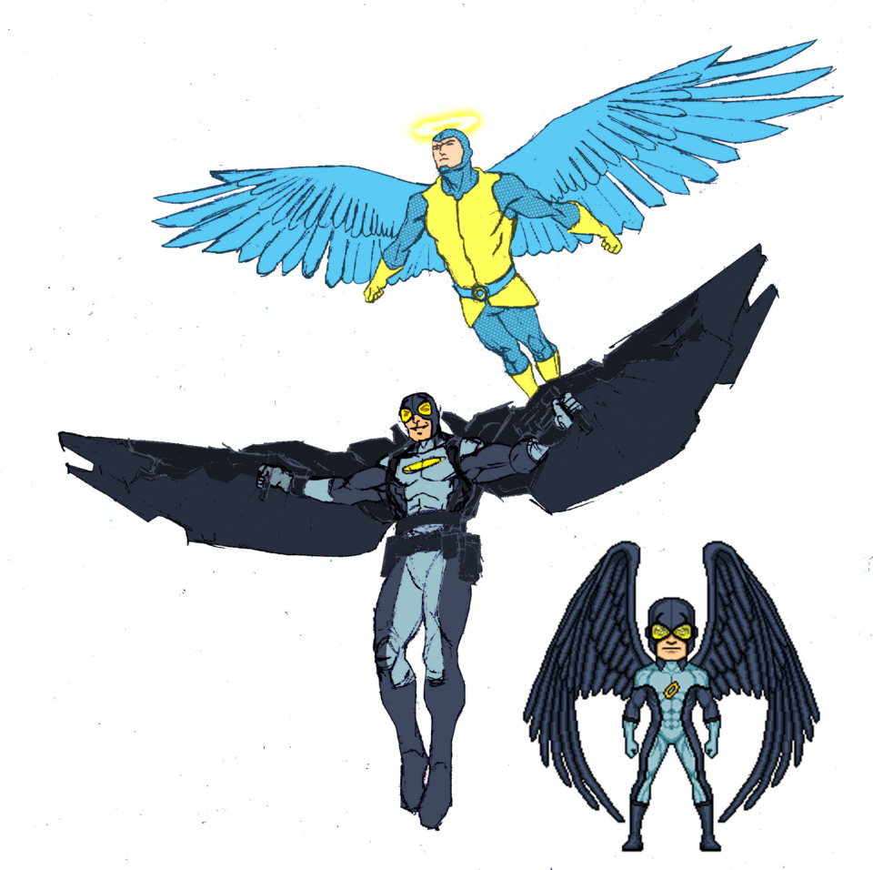 Needham Comics' redesign of Blue Angel by lurch-jr