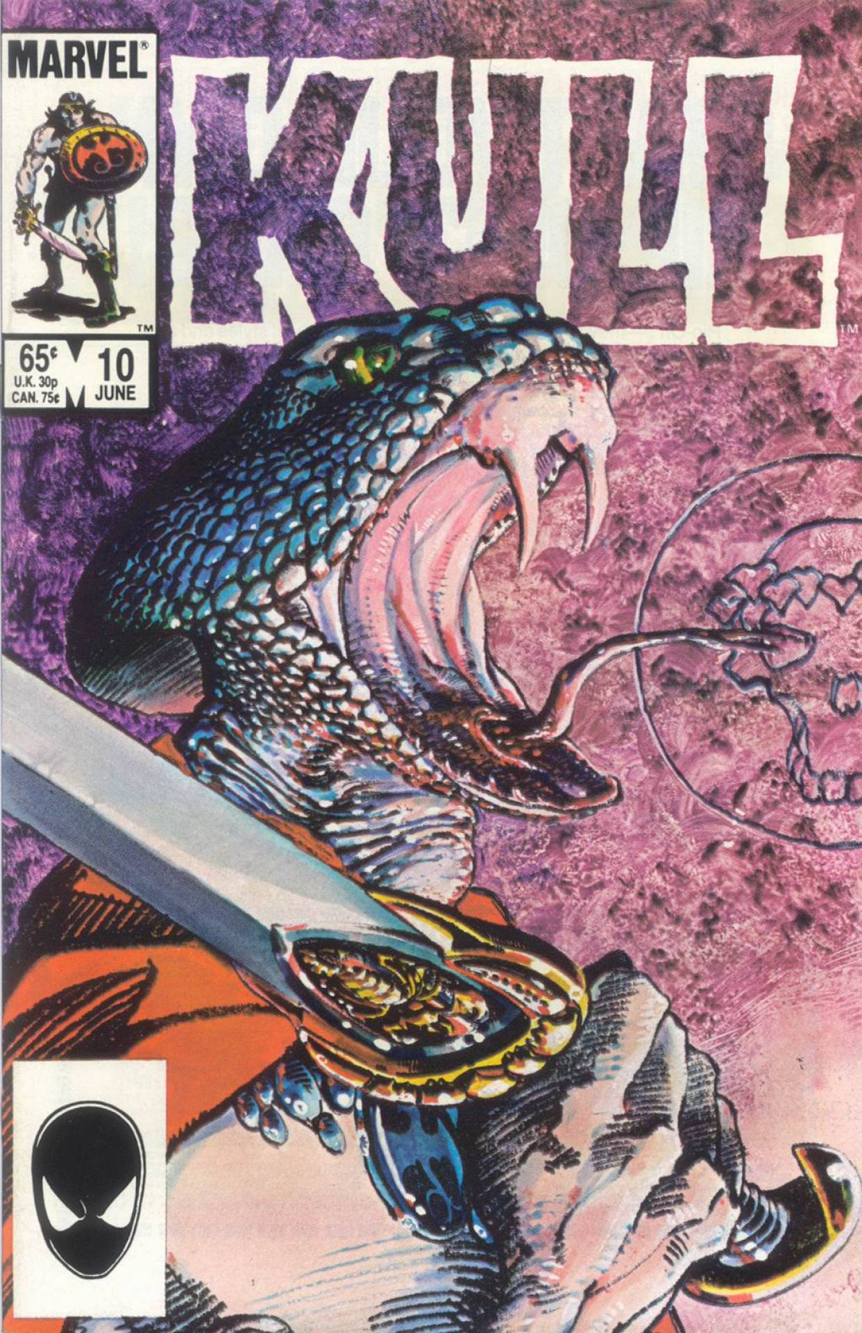 Barry Windsor-Smith's awesome companion piece to the previous issue's cover