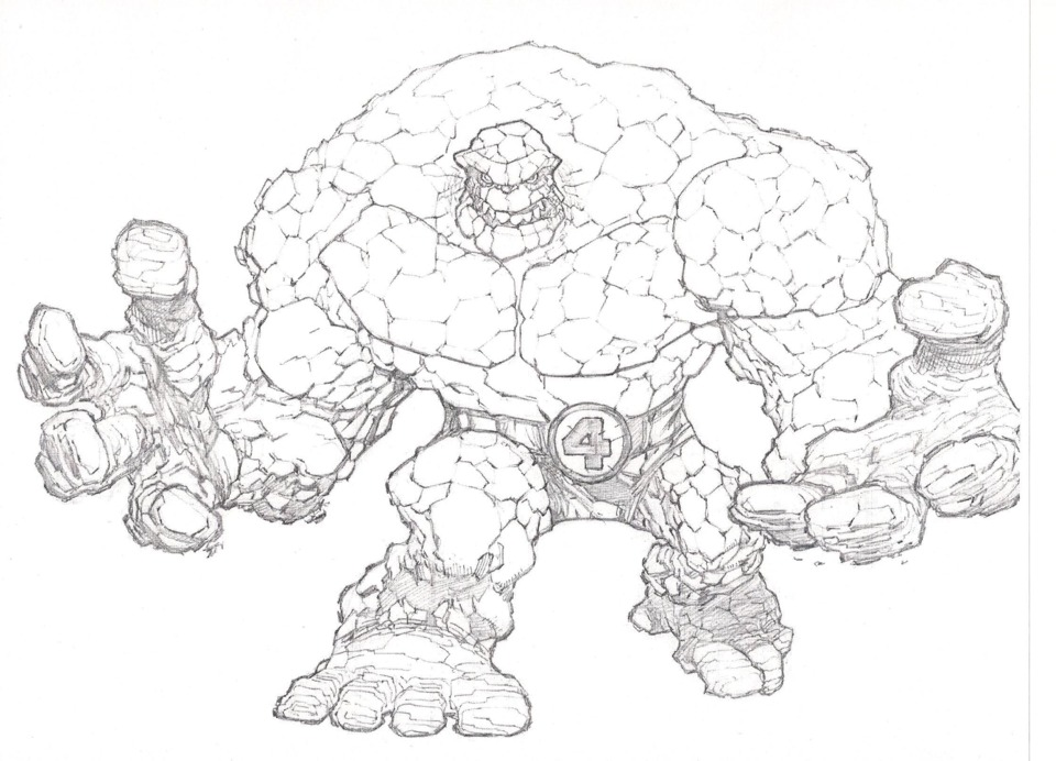 This is The Thing, by Mike Bowden, taken from an Awesome Art Pick column.