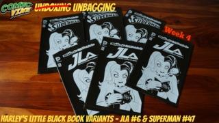 Unbagging: HARLEY'S LITTLE BLACK BOOK Variant Covers - JLA #6 & SUPERMAN #47