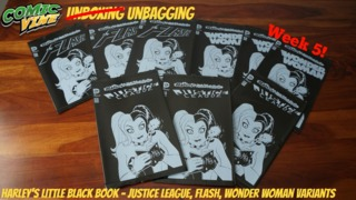 Unbagging: HARLEY'S LITTLE BLACK BOOK Variant - JUSTICE LEAGUE #47, THE FLASH #47, and WONDER WOMAN #47