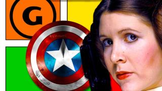 Mystery Art Challenge: Peter Nguyen Draws Princess Leia as Captain America.