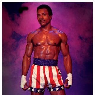 Carl Weathers as Apollo Creed.