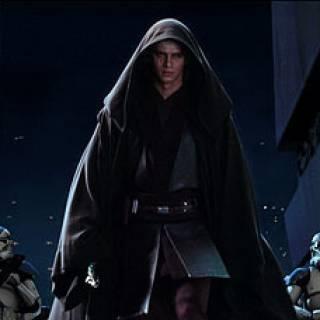Darth Vader in the movie.