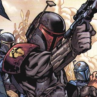 """Jaster Mereel and his soldiers the """"True Mandalorians"""""""