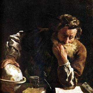 """""""Archimedes Thoughtful"""" by Fetti (1620)"""