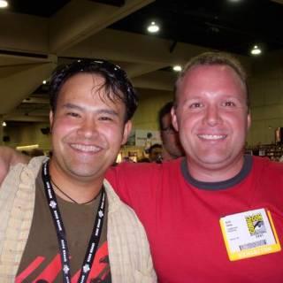 Don kramer with Kieth Dallas at San Diego Comic Con 2007