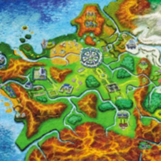 Artwork of the Kalos region from Pokémon X and Y.