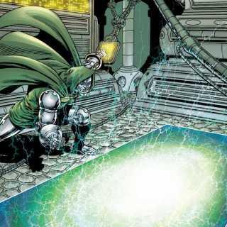 Doctor Doom & his Time Platform - by Jim Starlin