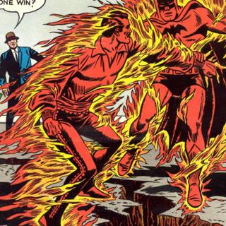 flame-master battling batman