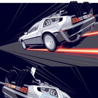 Back to the Future 1-2-3 Delorean