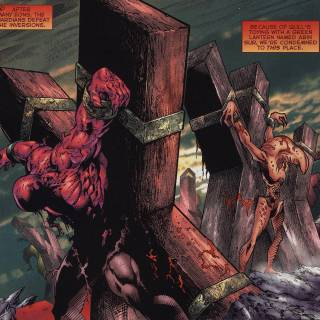 Atrocitus and Qull cruxified