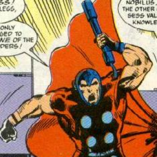 Nobilus with his own version of Thor clothing