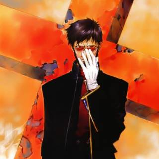 Gendo Ikari, art by Sadamoto