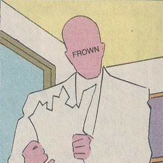John Doe frowning