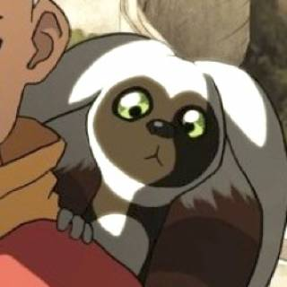 Momo on Aang
