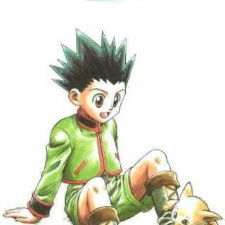Gon with a cat.