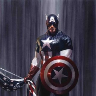 Cap by Alex Ross (Captain America #2 Cover))