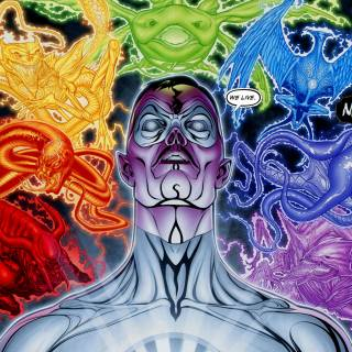 White Lantern Sinestro and The Emotional Spectrum Spirits