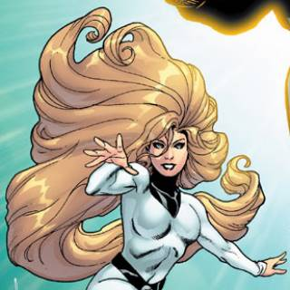 "Godiva's ""New 52"" look, from the cover of Justice League International #1"