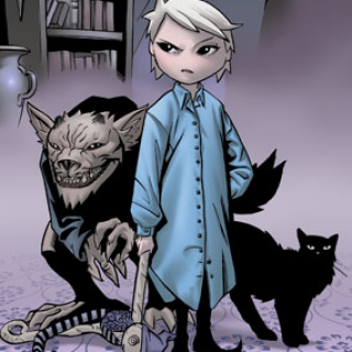 Courtney on the cover of volume one.